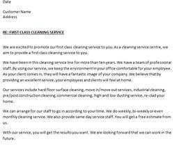 #2 untuk Commercial Cleaning Introduction Letter oleh joannatee