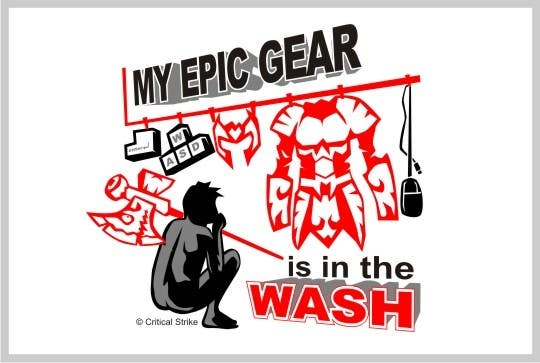 Contest Entry #                                        12                                      for                                         Gaming theme t-shirt design wanted – Epic Gear
