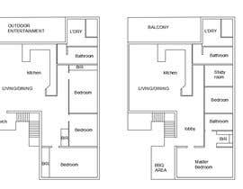 nº 1 pour Architectural floor plans / concepts for renovation par aqsamushtaq