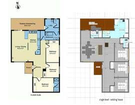 nº 10 pour Architectural floor plans / concepts for renovation par luizfreir