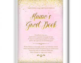 #41 cho A4 Poster to advertise Guestbook bởi solnnk