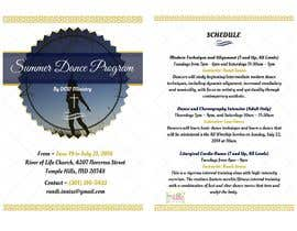 #88 cho Summer Dance Program Flyer bởi ankushchak