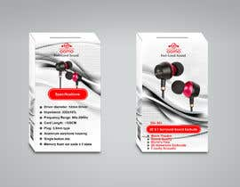 #19 for Create Clean Design For In Ear Headphones Packaging (Think Apple/Bose) af khe5ad388550098b