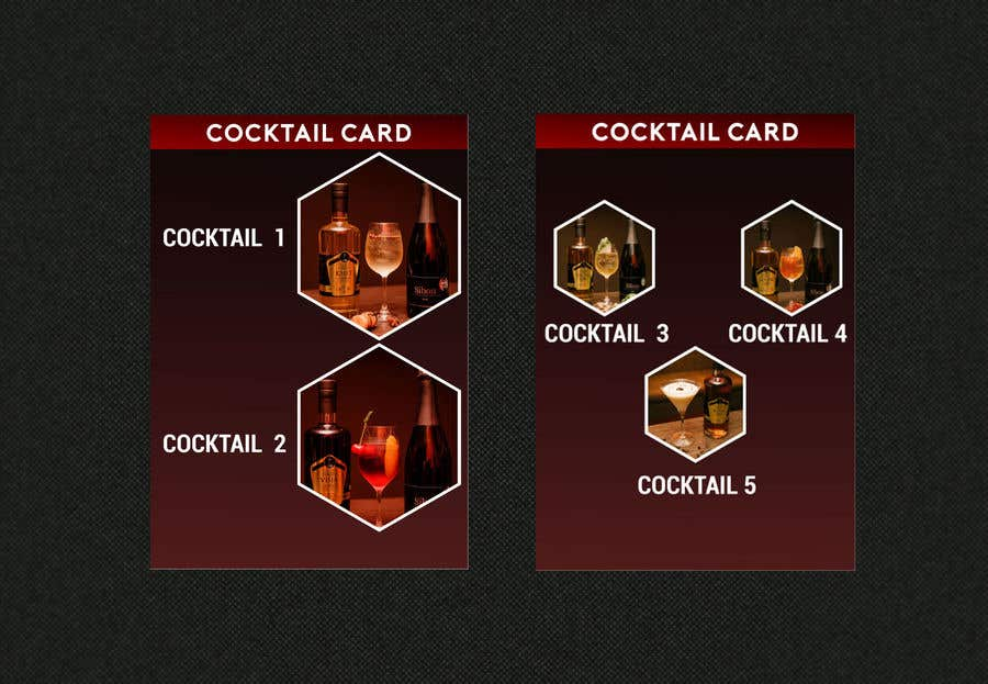 entry 2 by hipzppp for cocktail card flyer freelancer