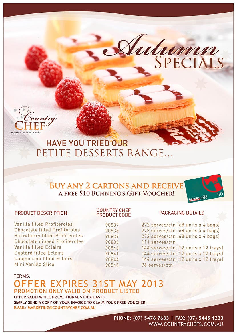 #10 for Graphic Design for Country Chef Desserts by pris