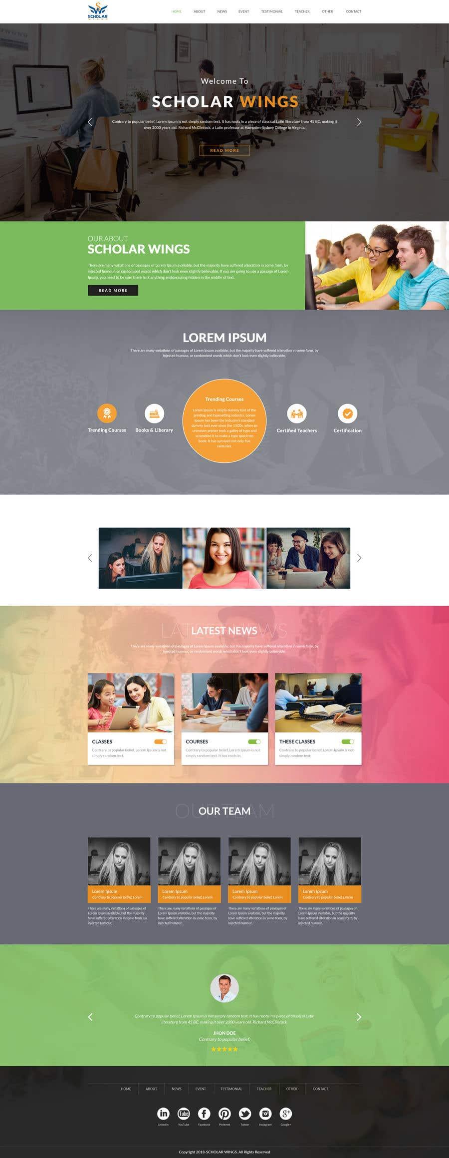 Penyertaan Peraduan #16 untuk Design a Logo and website mockup