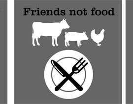 """Nro 13 kilpailuun Vegan tattoo - """"Friends Not Food"""" käyttäjältä pigulchik"""