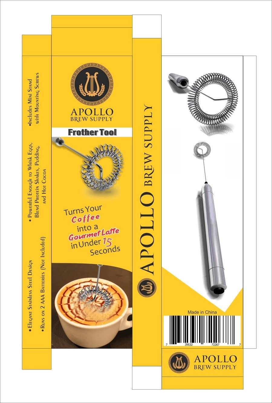 Inscrição nº                                         2                                      do Concurso para                                         Create Print and Packaging Designs for Milk Frother Tool