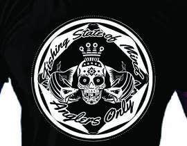 #31 para Design a skull/calavera fishing t-shirt por elliondesignidea