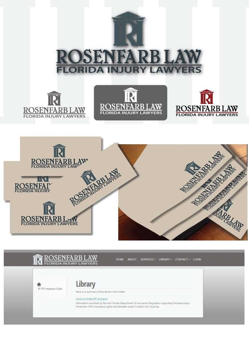 Kilpailutyö #141 kilpailussa Logo Design for Rosenfarb Law