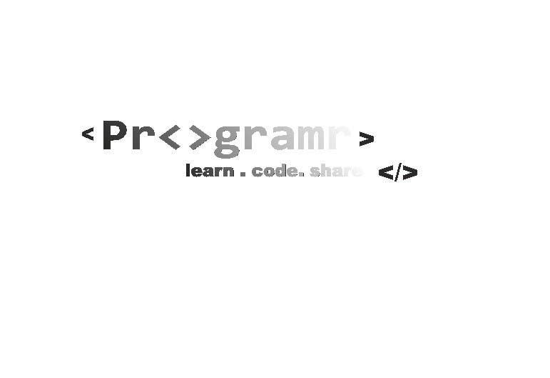 #316 for Logo Design for Programr by elinatlachenska