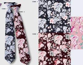 #15 for Need floral design to be printed on cotton fabric/neckties. af artkrishna