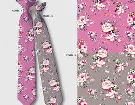 #16 for Need floral design to be printed on cotton fabric/neckties. af artkrishna