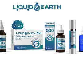 #25 untuk I need a mockup of our product line with our label added to each item, which includes our logo (Liquid Earth CBD) and a discription on the bottles and boxes. Logo will be provided for you. There are about 5 products id like displayed in the picture. oleh eaumart