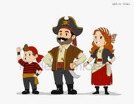 Nro 51 kilpailuun Character and Environment Design for a Childs Book with Pirate setting käyttäjältä miqeq
