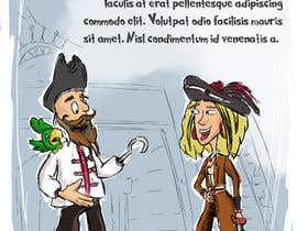 Nro 36 kilpailuun Character and Environment Design for a Childs Book with Pirate setting käyttäjältä turkmentunc