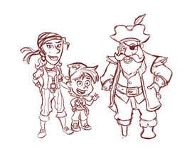 Nro 27 kilpailuun Character and Environment Design for a Childs Book with Pirate setting käyttäjältä Thabsheeribz