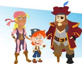 Nro 43 kilpailuun Character and Environment Design for a Childs Book with Pirate setting käyttäjältä Thabsheeribz