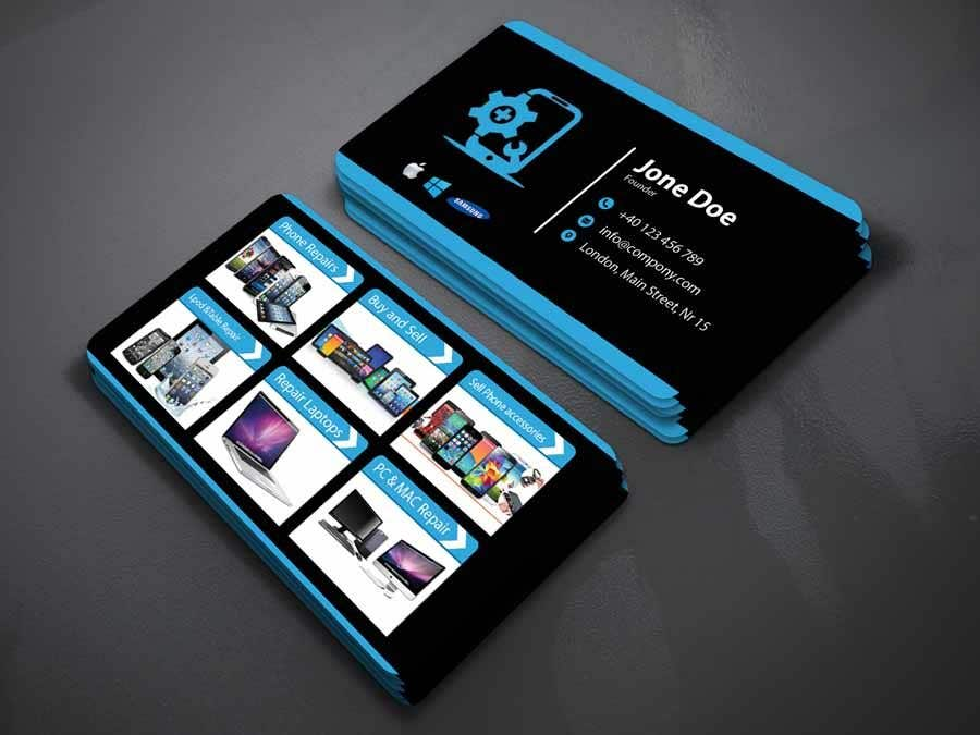 Entry 30 by najmul663 for need business cards template for mobile contest entry 30 for need business cards template for mobile cell phonecomputer repair fbccfo