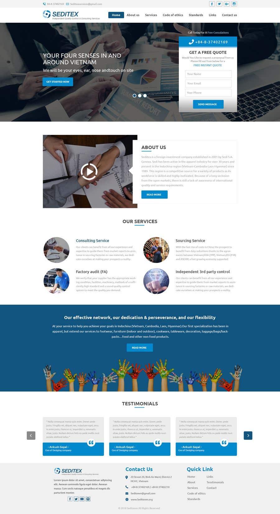 Entry 2 By Baljeetsingh8551 For Marketing Agency Web Design Mockup