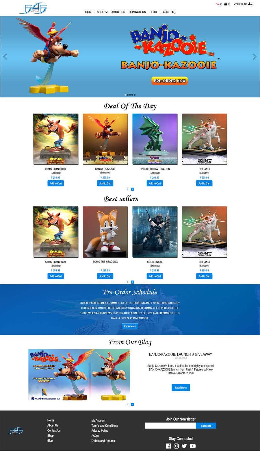 Kilpailutyö #6 kilpailussa Design our Magento 1 home page and product page