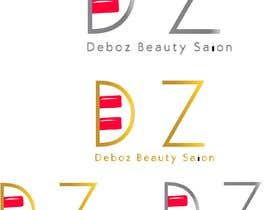 #11 para logo design for a beauty salon,with the letters DZ and underneath in small written Deboz beauty salon should have something that refers to nails colours of  letters should be gold/silver and background black mat  No circels or squares around the logo de dibasneupane
