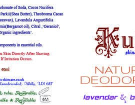 #14 pentru Natural Deodorant label design de către Maestrocaesar77
