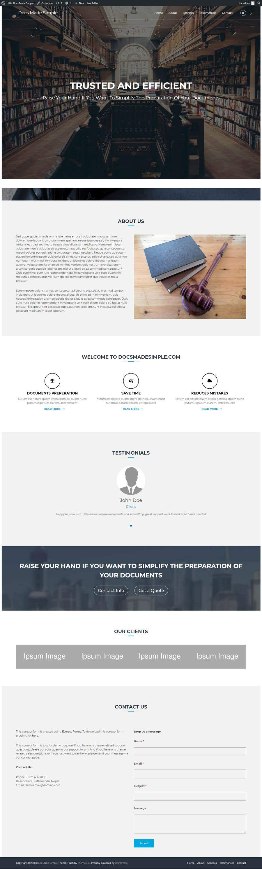 Penyertaan Peraduan #18 untuk Landing Page for Legal Website (selling to lawyers)
