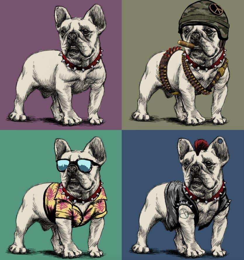Proposition n°28 du concours Illustrate a french Bulldog - Hand Drawn