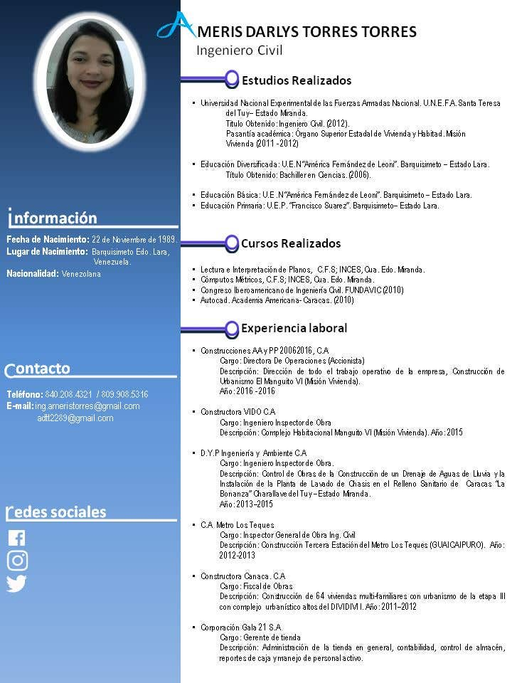 Entry 7 By Leonard222000 For Diseno De Curriculum Vitae Freelancer