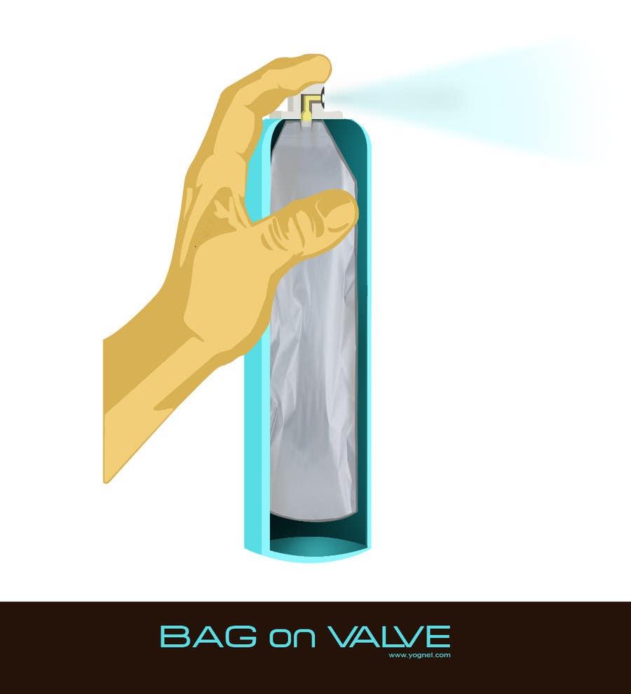 Inscrição nº                                         31                                      do Concurso para                                         Illustration to illustrate a new aerosol spray technology