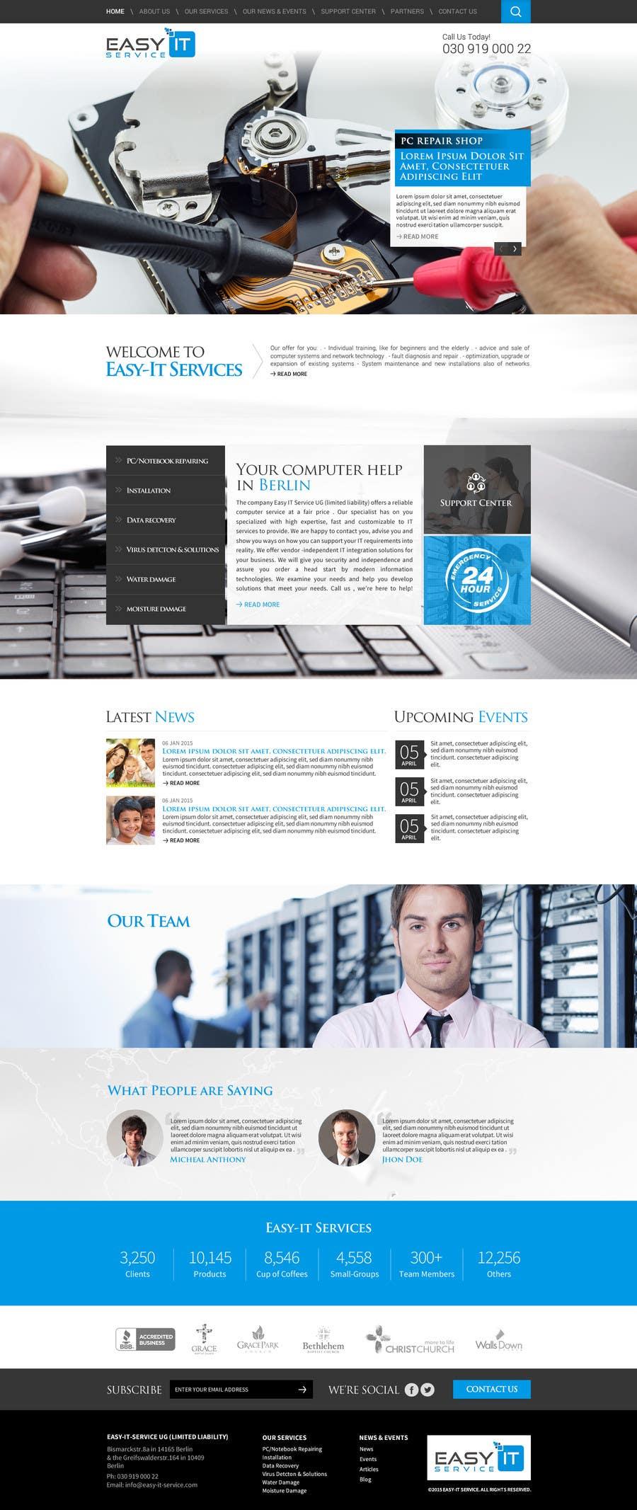 Bài tham dự cuộc thi #                                        14                                      cho                                         Redesign Computer Repair Webseite