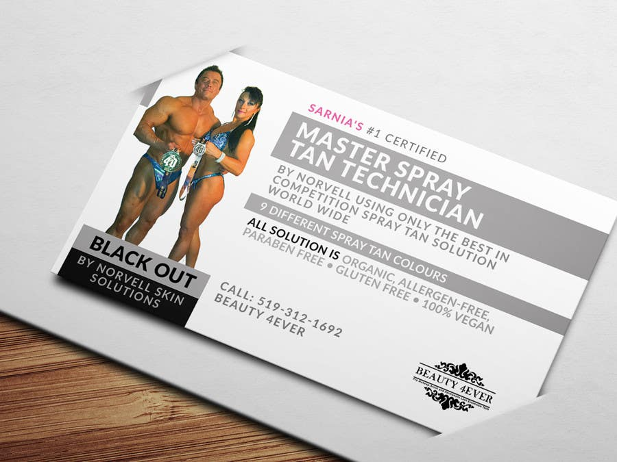 Entry #12 by wonderart for Design some Business Cards for Spray Tan ...