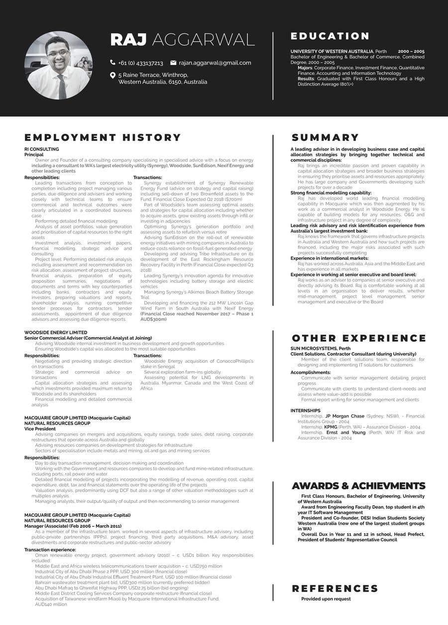 Entry 10 By Arthurgautama For Redesign My Cv Freelancer