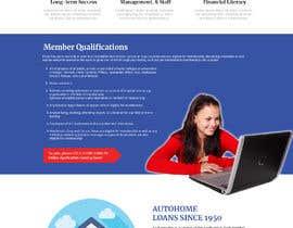 Nro 25 kilpailuun Design a Website Mockup for Credit Union (bank) käyttäjältä znsolutions
