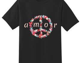 #3 for Necesito un montaje con un simbolo de la paz del estilo q envio y con unas letras como en la foto. Es para estampacion de camisetas. Me gustaria moverme en esa gama de colores by DrRappy