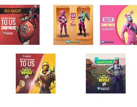 #19 dla Design multiple advertisements for Fortnite Instagram account. przez MarinaAtef96