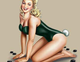 nº 10 pour golf theme pin up girl par DorianLudewig