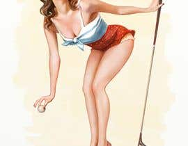 nº 24 pour golf theme pin up girl par Iana111