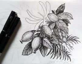 #55 untuk £100 for a Black and White hand or computer drawn tropical image of leaves, fruits and trees (see attached). oleh reddmac