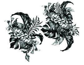 #39 untuk £100 for a Black and White hand or computer drawn tropical image of leaves, fruits and trees (see attached). oleh iomikelsone
