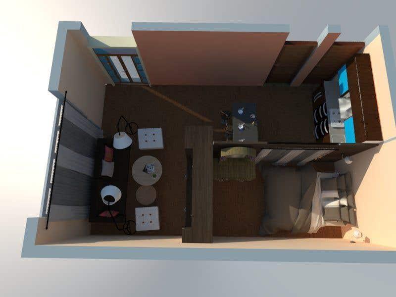 Entry #19 by Rufeeya for Design my Studio Apartment | Freelancer