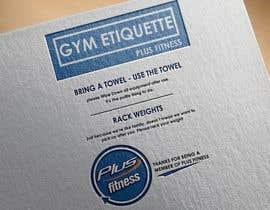 Nro 2 kilpailuun easy gym etiquette sign käyttäjältä HabibAhmed2150