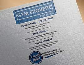 Nro 7 kilpailuun easy gym etiquette sign käyttäjältä HabibAhmed2150