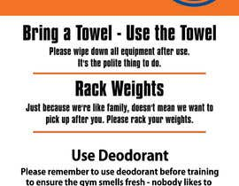 Nro 8 kilpailuun easy gym etiquette sign käyttäjältä alimohamedomar