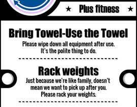 Nro 11 kilpailuun easy gym etiquette sign käyttäjältä shamulpilas
