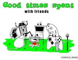 nº 40 pour Gaming theme t-shirt design wanted – Good Times Spent with Friends par rabregana