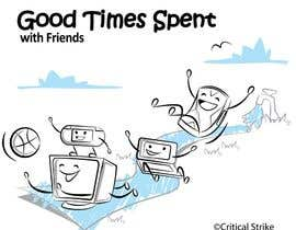 taks0not tarafından Gaming theme t-shirt design wanted – Good Times Spent with Friends için no 23
