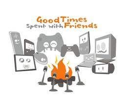 epeslvgry tarafından Gaming theme t-shirt design wanted – Good Times Spent with Friends için no 31