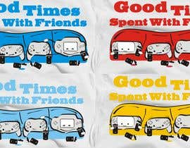 nº 27 pour Gaming theme t-shirt design wanted – Good Times Spent with Friends par WintryGrey